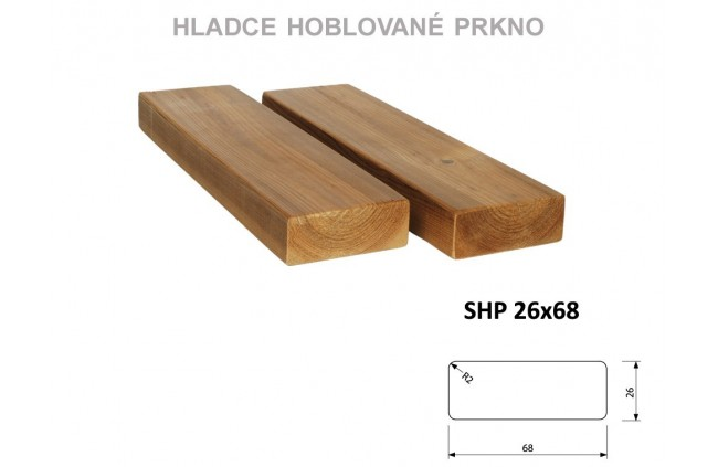 Hladce hoblované prkno SHP 26x68, Thermowood