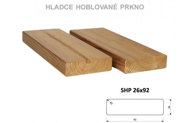 Hladce hoblované prkno SHP 26x92, Thermowood
