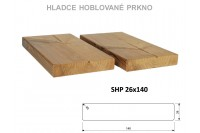 Hladce hoblované prkno SHP 26x140, Thermowood