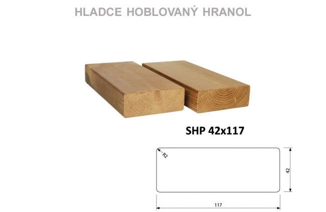 Hranol SHP 42x117, Thermowood